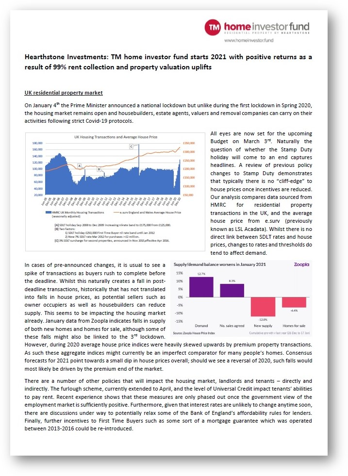 Jan 2021 Fund and Market Update